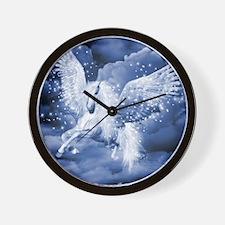 Sparkling White Pegasus Wall Clock