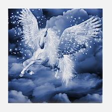 Sparkling White Pegasus Tile Coaster