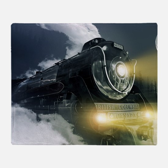 Steam Locomotive Throw Blanket