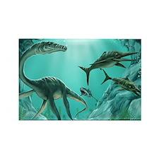 Underwater Dinosaur Rectangle Magnet