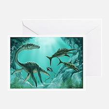 Underwater Dinosaur Greeting Card