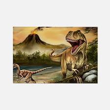 Predator Dinosaurs Rectangle Magnet