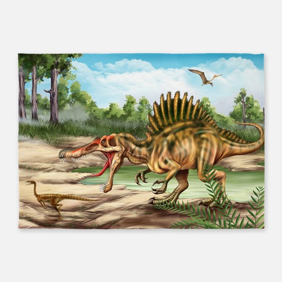 Dinosaur Species 5'x7'Area Rug