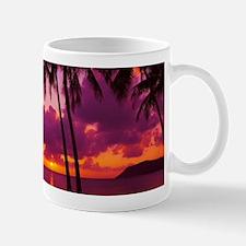 Purple Tropical Sunset 1 Mugs