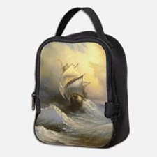 Stormy Frigate Painting Neoprene Lunch Bag