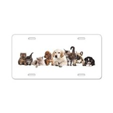 Cute Pet Panorama Aluminum License Plate