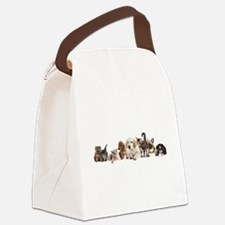 Cute Pet Panorama Canvas Lunch Bag