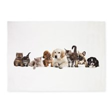 Cute Pet Panorama 5'x7'Area Rug