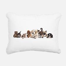 Cute Pet Panorama Rectangular Canvas Pillow