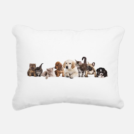 Cute Pet Panorama Rectangular Canvas Pillow