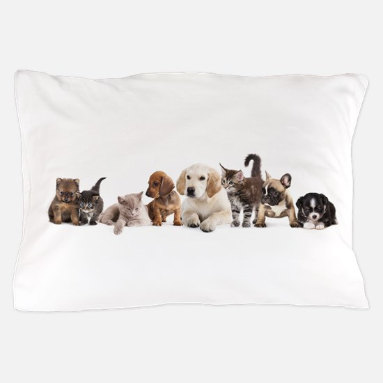 Cute Pet Panorama Pillow Case