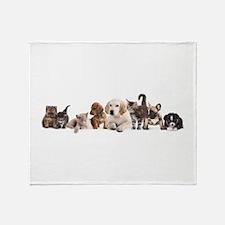 Cute Pet Panorama Throw Blanket
