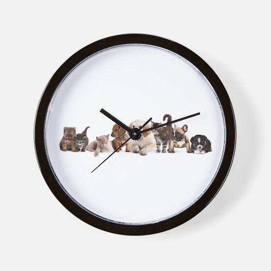 Cute Pet Panorama Wall Clock