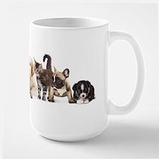 Cute Pet Panorama Large Mug