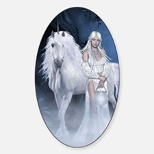 White Lady and Unicorn Decal