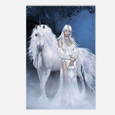 White Lady and Unicorn Postcards (Package of 8)