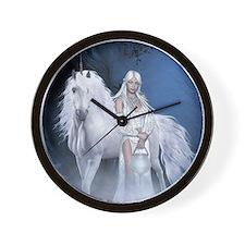 White Lady and Unicorn Wall Clock