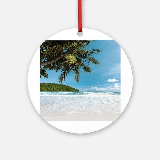 Tropical Palm Beach Round Ornament