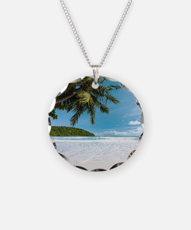 Tropical Palm Beach Necklace