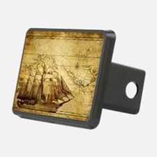 Old Ship Map Hitch Cover