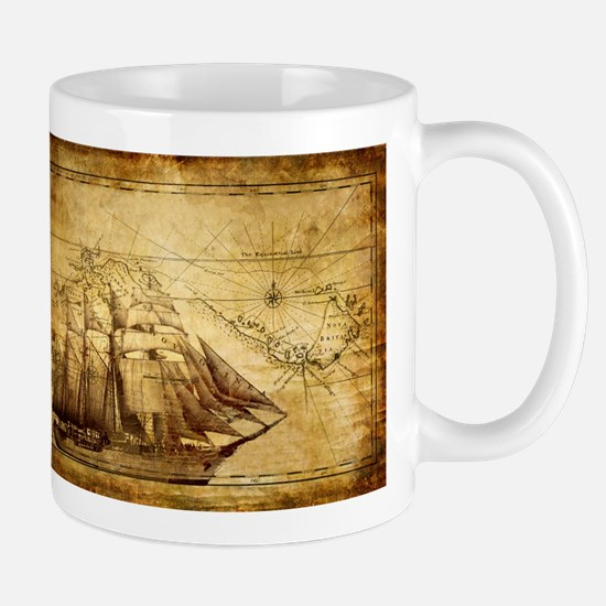 Old Ship Map Mug