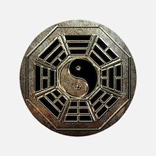 Yin Yang Bagua Button