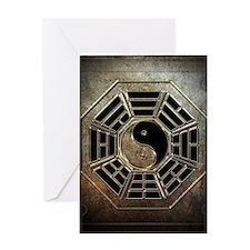 Yin Yang Bagua Greeting Card