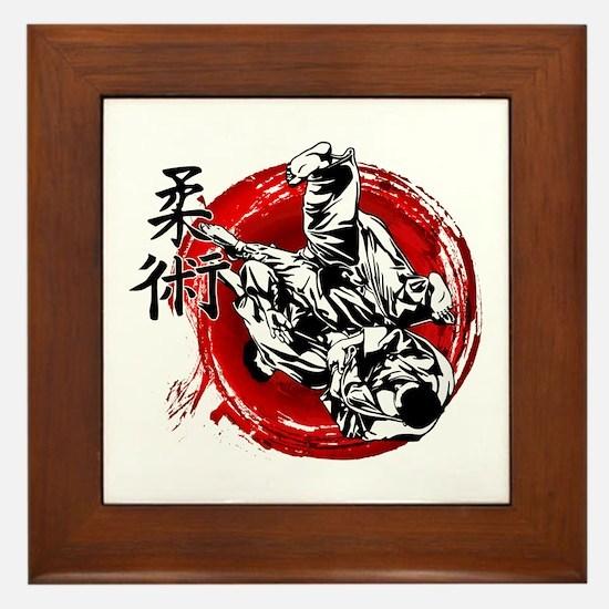 Cute Jiu jitsu Framed Tile