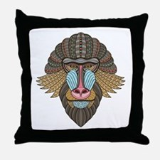 Tribal Baboon Throw Pillow