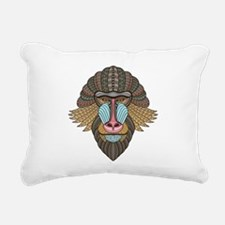 Tribal Baboon Rectangular Canvas Pillow
