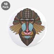 """Tribal Baboon 3.5"""" Button (10 pack)"""