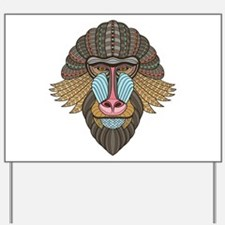 Tribal Baboon Yard Sign