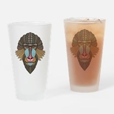 Tribal Baboon Drinking Glass