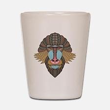 Tribal Baboon Shot Glass