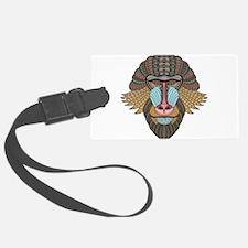Tribal Baboon Luggage Tag