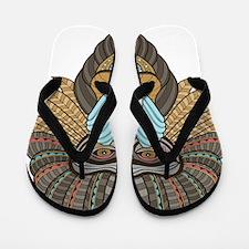 Tribal Baboon Flip Flops
