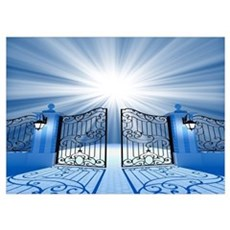 Heavenly Light Gate Wall Art Poster