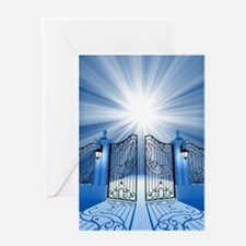 Heavenly Light Gate Greeting Card