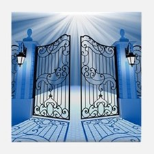 Heavenly Light Gate Tile Coaster