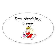 Scrapbooking Queen Oval Decal
