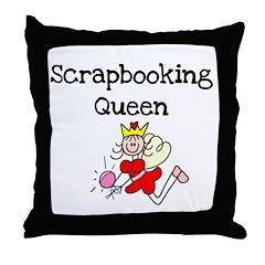 Scrapbooking Queen Throw Pillow