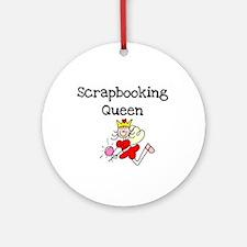 Scrapbooking Queen Ornament (Round)