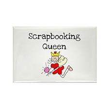 Scrapbooking Queen Rectangle Magnet