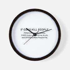 Cute Car kill Wall Clock