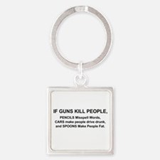 Funny Chevy cars Square Keychain