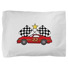 Checkered Flags Car Pillow Sham