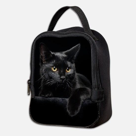 Black Cat Neoprene Lunch Bag