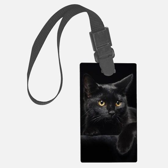 Black Cat Luggage Tag