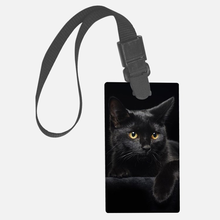 Black Cat Luggage Tag