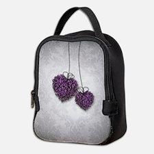 Purple Hearts Neoprene Lunch Bag